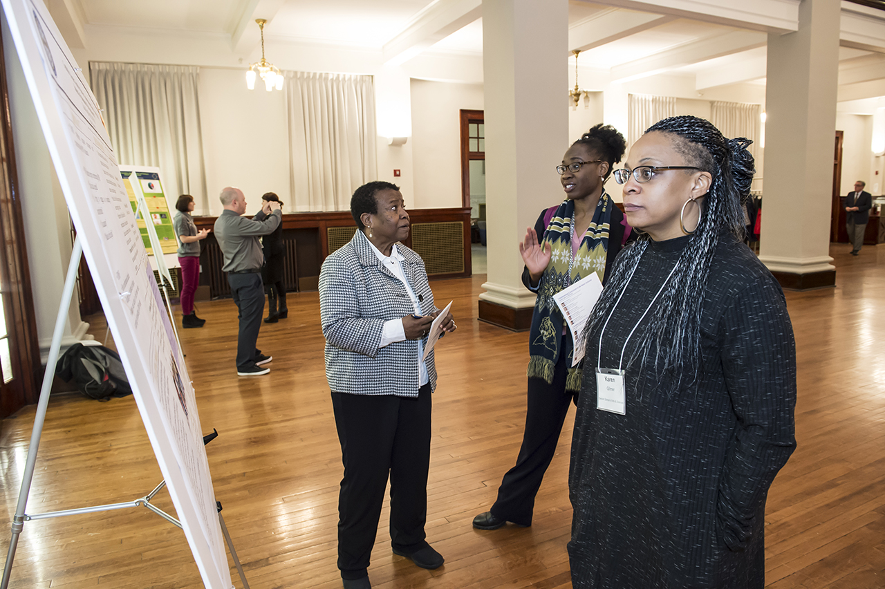 Provost Diversity Institute for Faculty Development lunch and poster session hosted by the Center for Teaching and Learning, held at the Connolly Ballroom, Thursday, April 19, 2018.