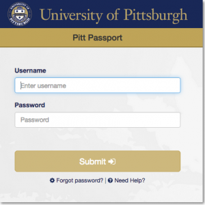 OMET- Screenshot - Pitt-Passport-Login-Screen