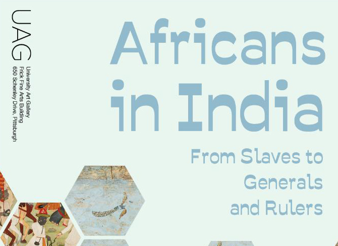 Africans in India art show flyer