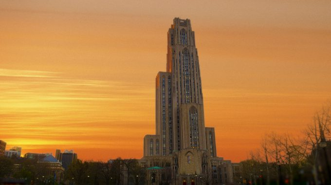 Cathedral Of Learning On Pitt's Campus