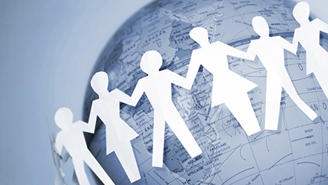 MOOC header showing globe and figures of people holding hands