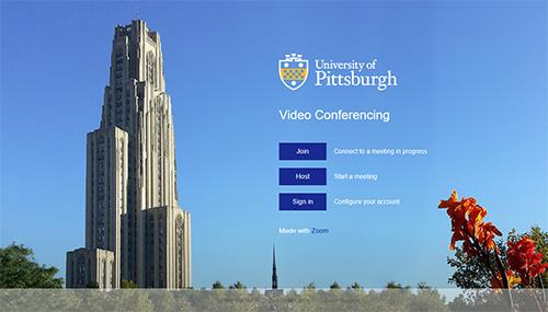 Pitt Zoom Homepage