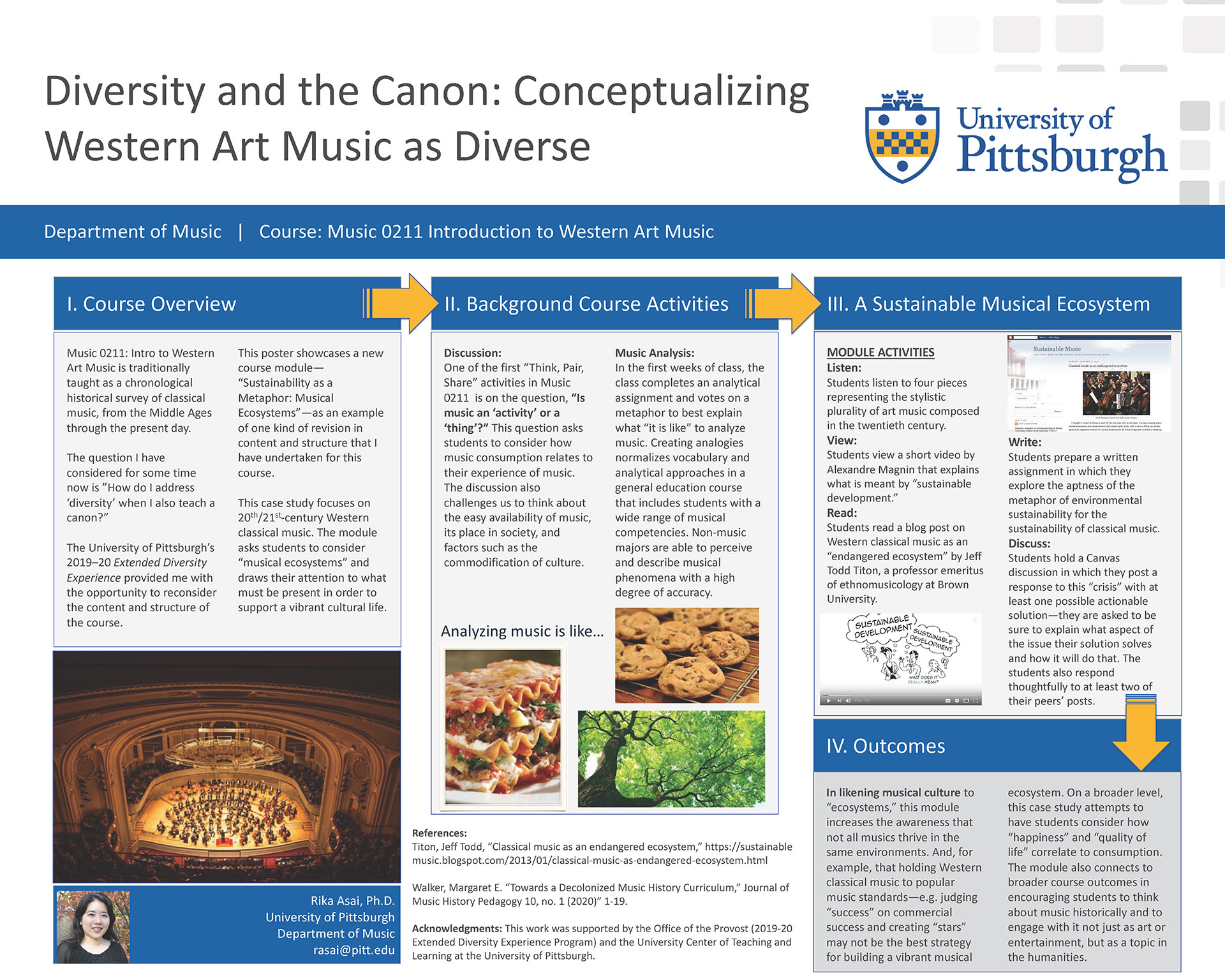 Rika Asai, PhD - Extended Diversity Experience 2020 Poster - Diversity and the Canon: Conceptualizing Western Art Music as Diverse