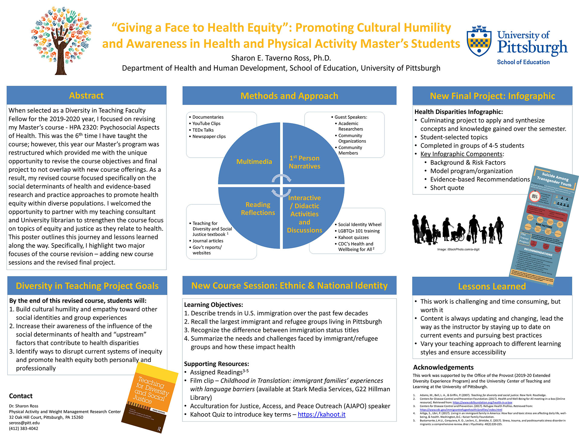 "Sharon E. Taverno Ross, PhD - Extended Diversity Experience 2020 Poster - ""Giving a Face to Health Equity"": Promoting Cultural Humility and Awareness in Health and Physical Activity Master's Students"