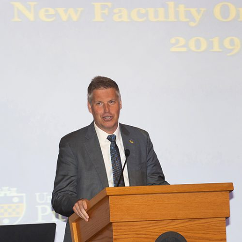 Annual Report 2020 - New Faculty Orientation 2019 Event - Chancellor Patrick Gallagher