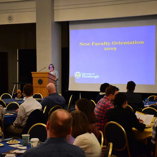 Annual Report 2020 - New Faculty Orientation 2019 Event - Provost Ann E. Cudd Speaking
