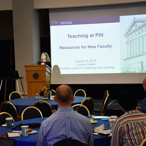 Annual Report 2020 - New Faculty Orientation 2019 Event - Cynthia Golden