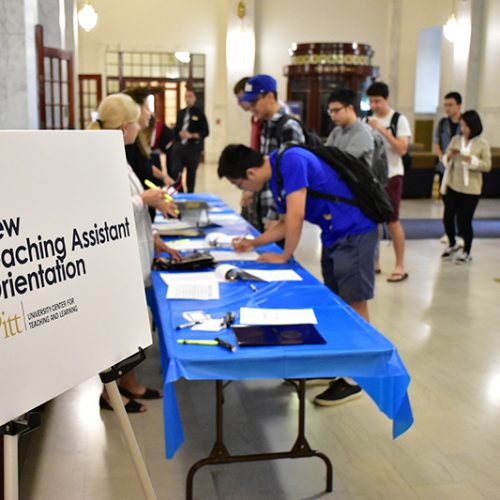 Annual Report 2020 - New Teaching Assistant Orientation 2019 Event - TAs Checking In To Event