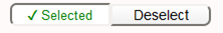 """Screenshot of """"selected"""" button in the Teaching Survey interface."""
