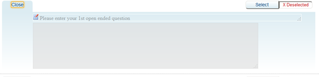 Screenshot of expanded custom question field in Teaching Survey interface.