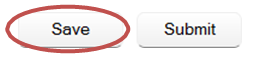 Screenshot of save/submit button in Teaching Survey interface.