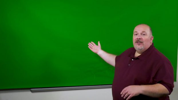 Media Creation Lab With Faculty Member Using A Green Screen For Lecture Capture.