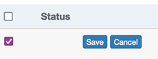 Screenshot showing save button for changes to your survey.