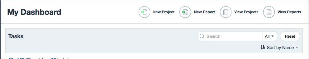My Dashboard screen for OMET Surveys